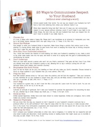25 Ways to Communicate Respect to Your Husband - Full Article