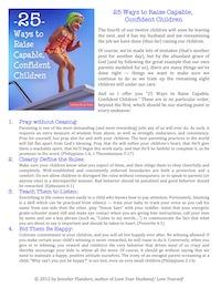 25 Ways to Raise Capable, Confident Children