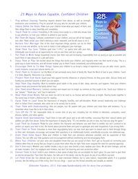 25 Ways to Raise Capable, Confident Children - Summary