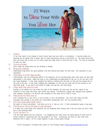 25 Ways to Express Love to Your Wife