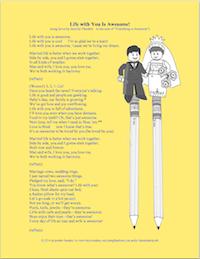Life with You Is Awesome (song lyrics based on Lego Movie Theme) \ from lovinglifeathome.com