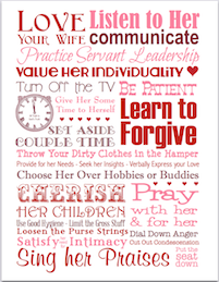 Love Your Wife | free printable subway art from https://lovinglifeathome.com
