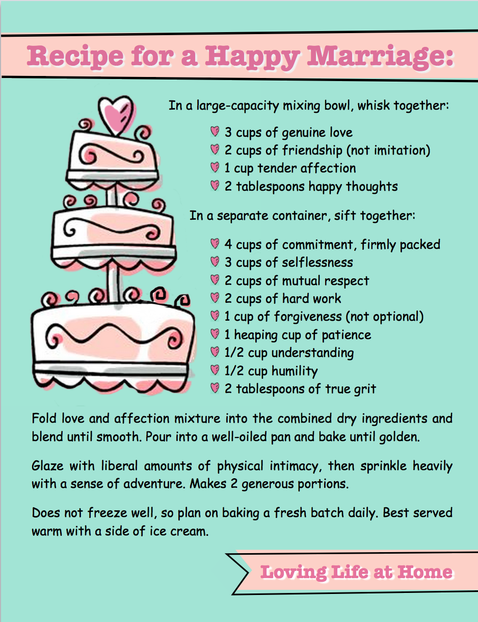 recipe perfect wedding cake poem recipe for a happy marriage loving at home 19045