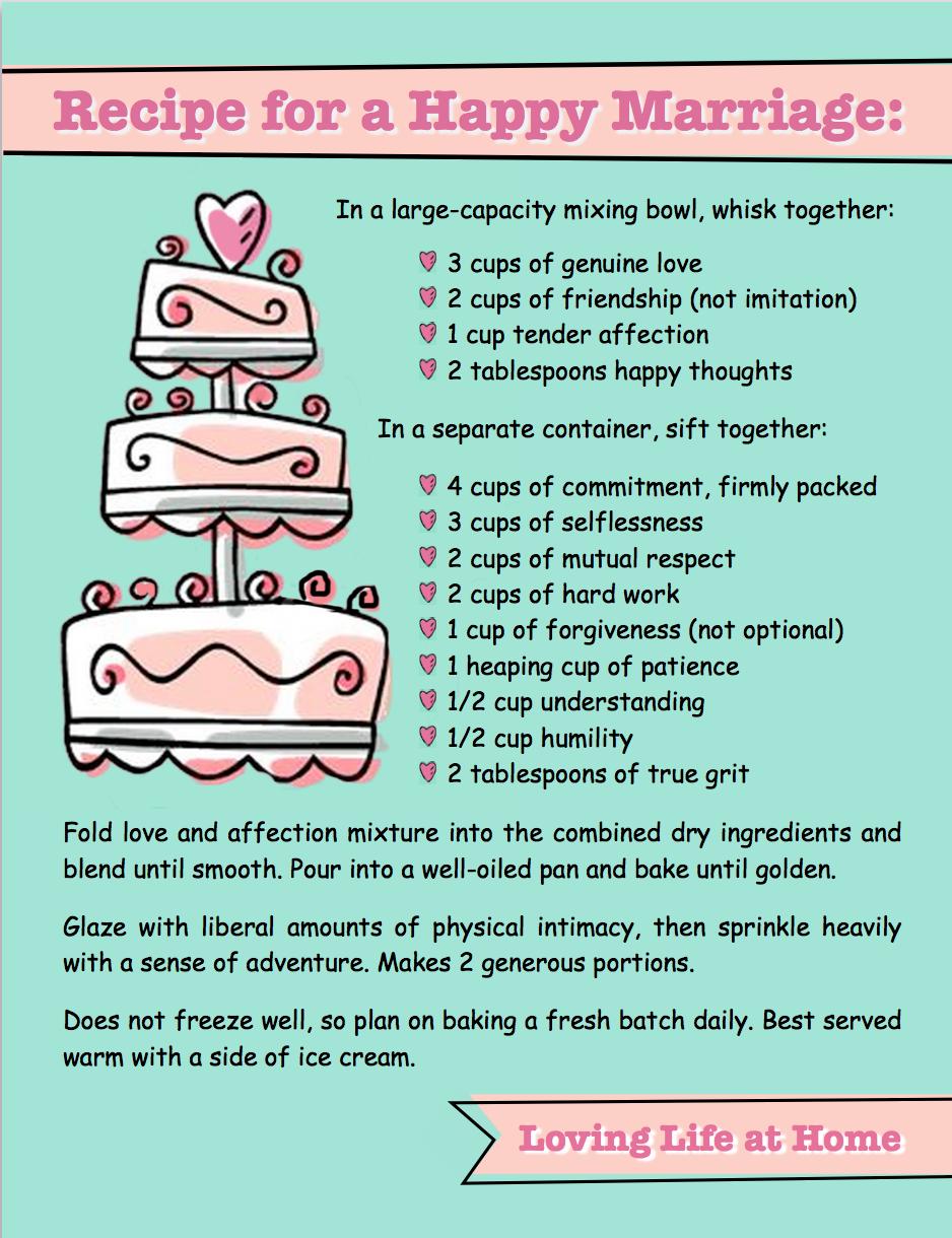 good relationship recipe