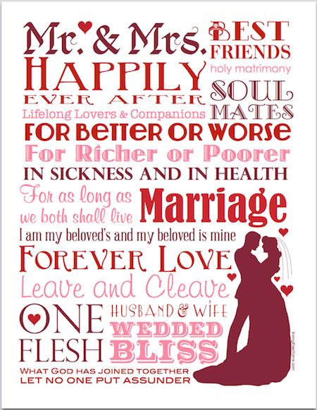 Forever Love   free subway art printable from lovinglifeathome.com