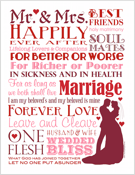 Free printable marriage subway art from lovinglifeathom.com