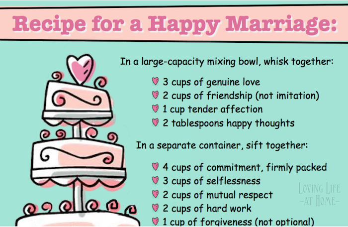 Recipe for a Happy Marriage